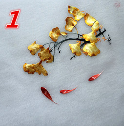 Canada Double-side Needlework Patterns De Broderie Soie Ronde 20cm art aiguille pour sac Vêtements Fan Ventilateur Suspendu Peinture Décoration Ornements Offre