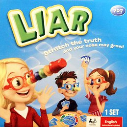 Lügenspiel online-[TOP] Liar Fibber Spiel Hilarious Noses Brille Stretch The Truth Your Nose Kann Kinder wachsen Kind Family Party interaktives Spielzeug