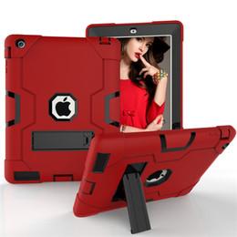 Tablet de armadura on-line-Para ipad 234 case de três camadas à prova de choque armadura defensor tablet proteção case para ipad pro 10.5 ipad air 3