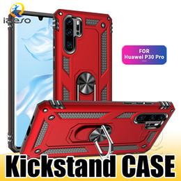 2019 decken huawei y6 Für Huawei Mate-30 Pro P Smart-Y6 Y7 2019 Hybrid Rüstung Kickstand Phone Case Stoß- Metallring-Halter-harte rückseitige Abdeckung izeso rabatt decken huawei y6