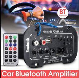 Usb bluetooth remote on-line-Carro Bluetooth HiFi Bass Power Amplificador AMP Digital Auto Estéreo USB TF Rádio Áudio MP3 música com Amplificador Digital Remoto 220 V KKA4857