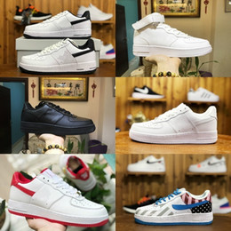 white knit fabric Coupons - 2019 New Forces Men Women Low Cut One 1 Casual Shoes White Black Dunk Sports Skateboarding Shoes Classic AF Fly Trainers High Knit Sneakers