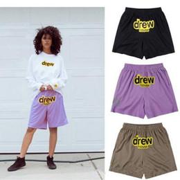 Calça esporte shorts on-line-Justin Bieber Drew Casa calções de Malha calça esporte mens calções de basquete dos homens do desenhador de ginástica de alta qualidade
