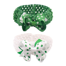 special hair accessories Coupons - Special Price Kids Green Shamrock Headbands Elastic Nylon Hair Bands For Newborn St. Patrick's Day Headwear Hair Accessories