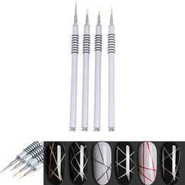 desenhos de caneta de gel Desconto 1pcs New Professional Acrílico Gel UV Nail Art Design Pintura Dots Desenhos Escova Pen Handle instrumentos de manicure