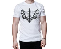 Banda branca de suor on-line-Slidhr Band Dilúvio 2013 Logo Capa Do Álbum Inspirado Branco T-Shirt Tamanho Discout Hot Novo Tshirt Trump Sporter Suor T-shirt