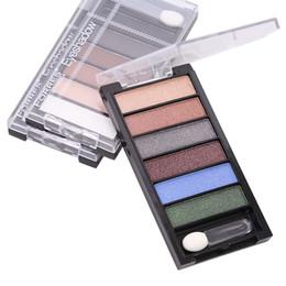2019 tiras nuas 6-color Eyeshadow Palette Faixa YF2019 Maquiagem Pearlescent Matte Nude-fronteira tiras nuas barato