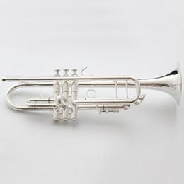 Canada Vincent Shrotenbach Stradivarius Professional Trompettes Sib LT190S-37 Embouchure Trompette Plaquée Argent Offre