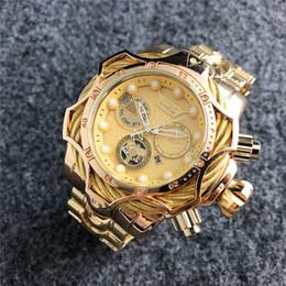 2019 esportes homem grande Moda relógio de aço inoxidável invicta mens sports quartz relógios top quality relógios homens relógios de ouro grande tamanho
