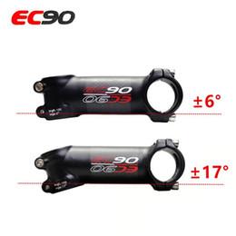 17-grad-fahrrad-carbon-stämme Rabatt EC90 Aluminium + Carbon Riser Stange Vorbau Carbon Fahrrad ultraleichter Vorbau Carbon Griff 28,6-31,8 MM 6 Grad 17 Grad