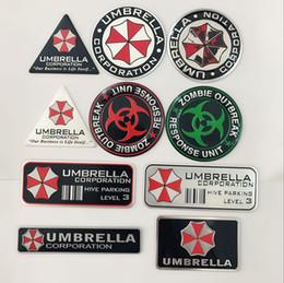 alluminio emblema badge Sconti 2019 auto 3D alluminio Resident Evil Umbrella protezione Bandiera emblema del distintivo accessori adesivi per VW Audi Chevrolet Honda Car Styling