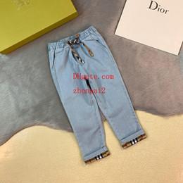 детские джинсы Скидка 2019 детские джинсы детская одежда девушки синие лацканы с вышивкой на пуговицах джинсовая куртка детская повседневная топы высокого качества детская одежда для девочек AB-9