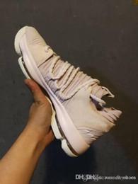 Дешевые и лучшие туфли KD 10 тетя Жемчужина многоцветный тройной черный серый месяц релизы январь повседневная кроссовки Мужская обувь онлайн с коробкой от