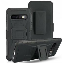 Para Samsung Galaxy S10 Plus S10E S9 S8 S7 S6 Edge S5 NOTA 3 4 5 8 9 Clip Cinturón de soporte Armadura Caja de la PC dura A prueba de golpes Defensor Cubierta giratoria 1pcs desde fabricantes