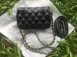Argentina Monedero de la señora de la moda europea y americana Mini bolso bolso de la correa de la cadena de color puro correa del bolso de hombro del anillo 95cm Oblicuamente colgado envío gratis Suministro