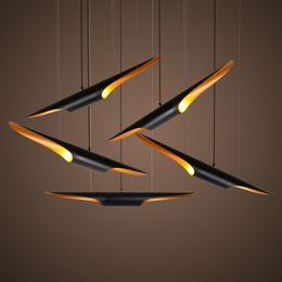 2019 retrò Nordic tubolare a sospensione in alluminio del nero del pendente luce della lampada per Living Room Bar shop Ristorante decorativo lampada a sospensione da