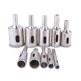 ceramic tile drill bits Promo Codes - Tools Drill Bit 10pcs Diamond Coated Drill Bit Set Tile Marble Glass Ceramic Hole Saw Drilling Bits Tool Kit For Power Tools 6mm-30mm