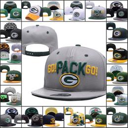 2019 Зеленые регулируемые шапки Bay Packers Вышивка логотипа Snapback All Team Wholeasle Трикотажные шапочки Шапки Один размер от Поставщики зеленый вязание