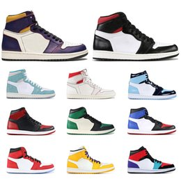 mid top shoes Promo Codes - 1s basketball shoes high mid top Gym red SPIDERMAN UNC TURBO GREEN Court Purple banned NYC TO PARIS PHANTOM 1 mens sports sneakers