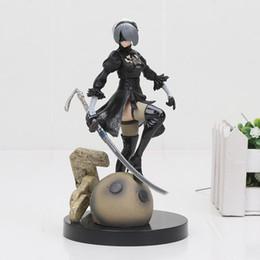 Types de poupées en Ligne-Pvc Jeu Anime Figure NieR Automates YoRHa N ° 2 Type de Bande Dessinée Jouet Action Figure Modèle Poupée Cadeau 18 cm