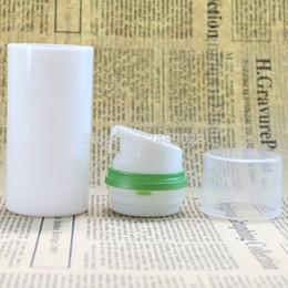 tampões de frasco livres Desconto Transparente Tampa Verde Borda Airless Garrafa Bomba De Vácuo Loção Embalagem Cosmética 100 pcs muito Frete Grátis
