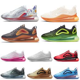 2019 feux de carbone Nike Air Max 720 Shoes 2019 720 Chaussures De Course Hommes Femmes Northern Lights Néon Triple Noir Carbon Carbon Sunset Corss Randonnée Jogging Marche Sport Baskets 36-45 promotion feux de carbone