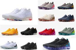 Nike Air VaporMax Flyknit  Moc 2 Выпускает Мужские Кружевные Многоцветные Тройные Черные Кроссовки Для Женщин Moc 2.0 Кроссовки Спортивные Тренеры Racer Shoe от