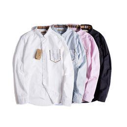 Camisas francesas do punho dos homens s on-line-2019 moda casual dos homens camisa de vestido com francês algemas de manga comprida cor sólida luxo clássico marca designer camisas de vestido para homens abotoaduras