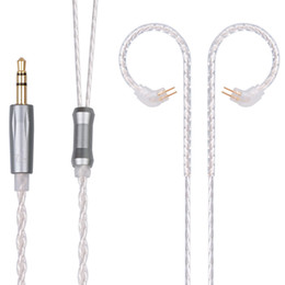 earphone upgrade cable Coupons - upgrade 10 Replacement 2Pin Upgraded Plated Silver Cable Use For TRN 10 TRN V20 V60 ZS10 ZS6 ZST ZSR ZSA ES4 RT-1 Universal