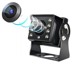Canada Nouveau 12-24v IR LED Caméra de recul Vue arrière Sauvegarde Inverser Parking Caméra de vision nocturne Vision Grand Angle Étanche pour Camion Bus Offre