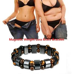 Perte de Poids Bracelets ronde pierre noire Thérapie Magnétique Bracelet Luxe Charme