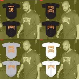 Camisolas baratas de alta qualidade on-line-16 Drake Verão Revenge Baseball Jersey Filme Personalizado Personalizado de Alta Qualidade Frete Grátis Barato Baseball Jerseys Ordem Mix