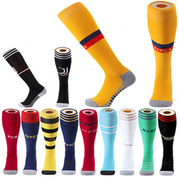red knee socks Promo Codes - Professional Sports Soccer Socks For Adult Kids Men Football Club Knee High Compression Sport Children Long Stocking Socks