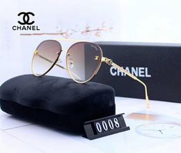 Nouvelles lunettes de soleil pour femmes en Ligne-Lunettes de soleil de luxe marque lunettes de soleil de mode surdimensionné lunettes de soleil pour les femmes en verre UV400 5 Style avec boîte New arrive