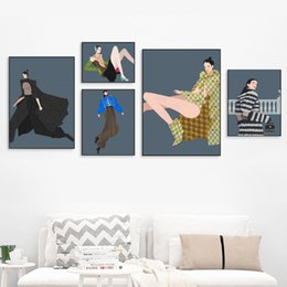 women room paintings Promo Codes - Woman Fashion Model Long Legs Wall Art Print Canvas Painting Nordic Canvas Posters And Prints Wall Pictures For Living Room