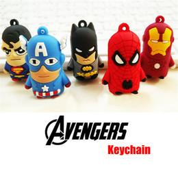 5 estilos Avengers Keychain Figuras de acción Superman Batman Spider-man Capitán América Llaveros Iron Man Mochila colgantes Juguete para niños desde fabricantes