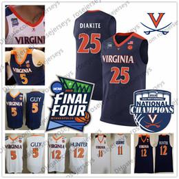 9749551927603 2019 Final Four Virginia Cavaliers 2 Braxton Key 25 Mamadi Diakite 30 Jay  Huff 33 Jack Salt Navy Blue White UVA Basketball Jersey