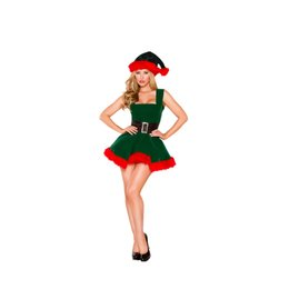 c11a52485 Newest Sexy Christmas Costume for Women Thick Velvet Santa Cosplay Suit  Erotic Baby Doll Uniform Christmas Party Dress Outfit
