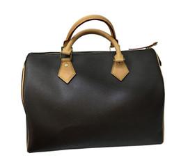 correa de cuero de los bolsos Rebajas SPEEDY hotselling classic Señora de calidad superior genuino bolso de cuero oxidante SIN bolso bandolera bandolera tp010