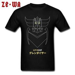 magliette nere fresche Sconti UFO Robot Grendizer T Shirt Anime giapponesi Mazinger Z Cool Magliette 3D Print Game Comic Nuove magliette per gli uomini Black Mother's Day