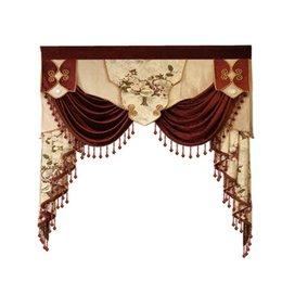 vorhang falten stile Rabatt 9 stil Luxus benutzerdefinierte volant für wohnzimmer vorhänge an der spitze (VALANCE gewidmet link / Nicht einschließlich Stoff vorhang und tüll)