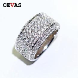кольца из белого золота для мужчин Скидка 2019  full CZ men ring Exquisite white Gold color Shiny Zircon Wedding Engagement rings size 8-13 party jewelry Wholesale