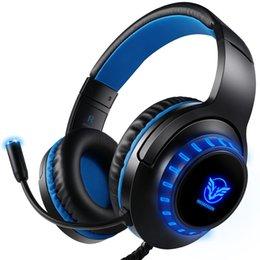 Xbox mic онлайн-Новая стереогарнитура H-11 для PS4 Xbox One, шумоизоляция регулируемая над ухом с микрофонной гарнитурой для компьютерных игр