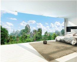 китайская картина пейзажа Скидка WDBH 3d обои пользовательские фото росписи китайская гора природные пейзажи живопись Home decor гостиная 3d настенные росписи обои для стен 3 d