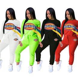 leggings regulares Desconto Mulheres Roupas de Grife Hoodies + Leggings 2 Peça Set Sports Suit Carta Impressão Camisas + Calças Justas Treino Roupas de Outono Pullover Terno 1369