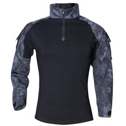 2019 военная тактическая рубашка с длинным рукавом Мужские футболки Камуфляж Army Combat Tactical Футболка Военный Мужчины с длинным рукавом Футболка Hunt Футболки Одежда Тис Поло скидка военная тактическая рубашка с длинным рукавом
