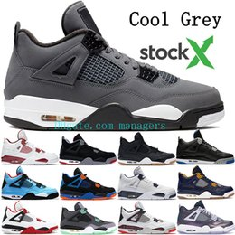 art cactus Coupons - New Jumpman 4 4s basketball shoes men Cool Grey Bred Thunder Royalty sneakers mens CACTUS Dunk From Above Tattoo Raptors trainers US 7-13