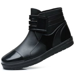 Men Work Water Shoes Pvc Rubber Low
