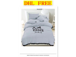 modern king beds Promo Codes - DHL FREE High quility ERME pure cotton material bedding sets four quilt cover pillowslip bed sheet multicolor Comfortable soft.