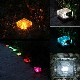 2019 luzes de decoração exterior Fora IP65 simulação à prova d 'água cubo de gelo luz LED tijolo noite lâmpada de jardim praça festa de casamento decoração de iluminação luzes de decoração exterior barato